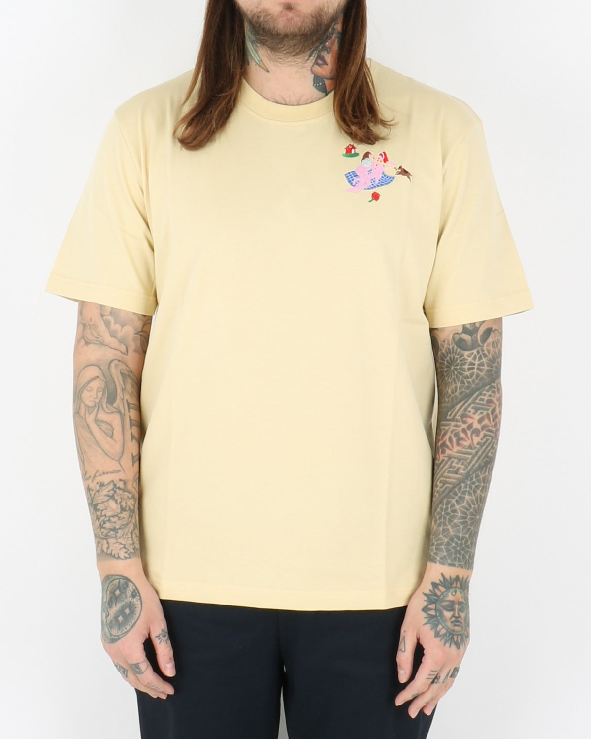 carne bollente_my bare ladies t-shirt_soft yellow_1_3