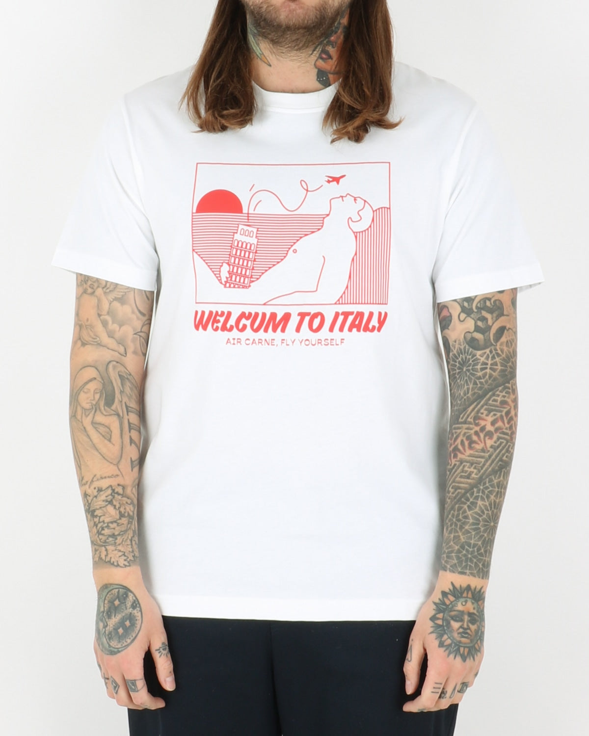 carne bollente_welcum to italy t-shirt_white_1_3