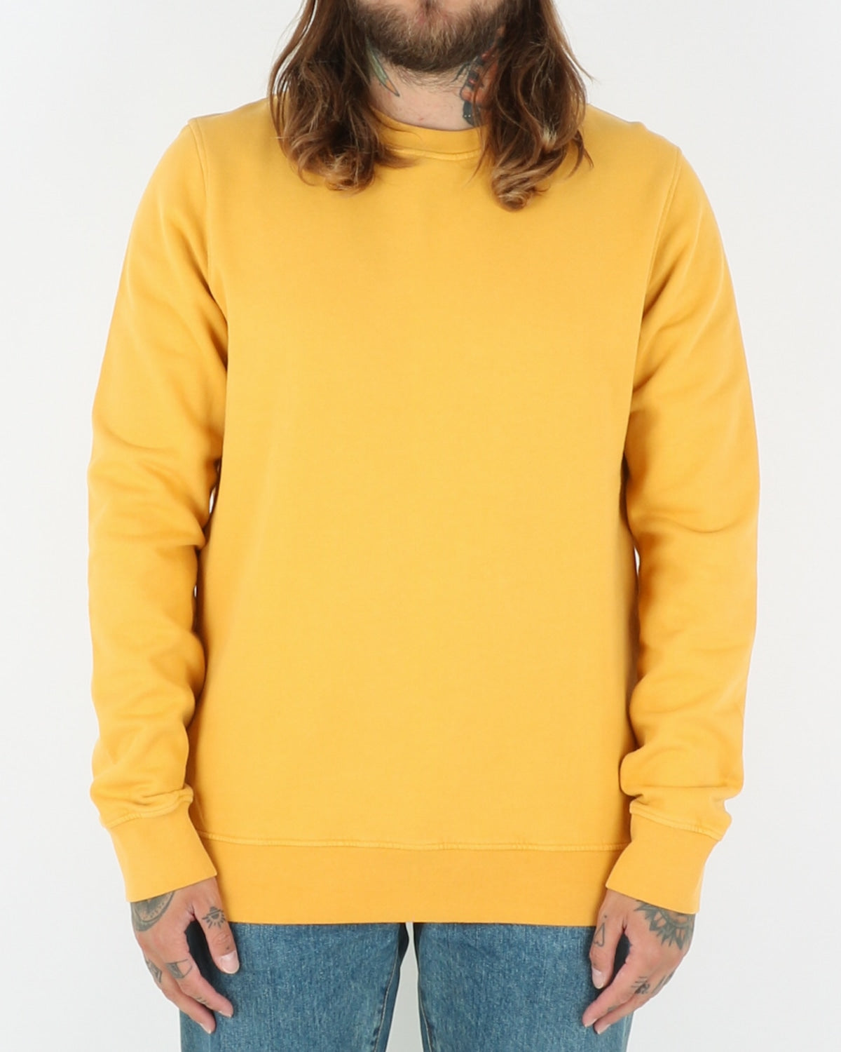 colorful standard_classic organic crew neck_burned yellow_1_2