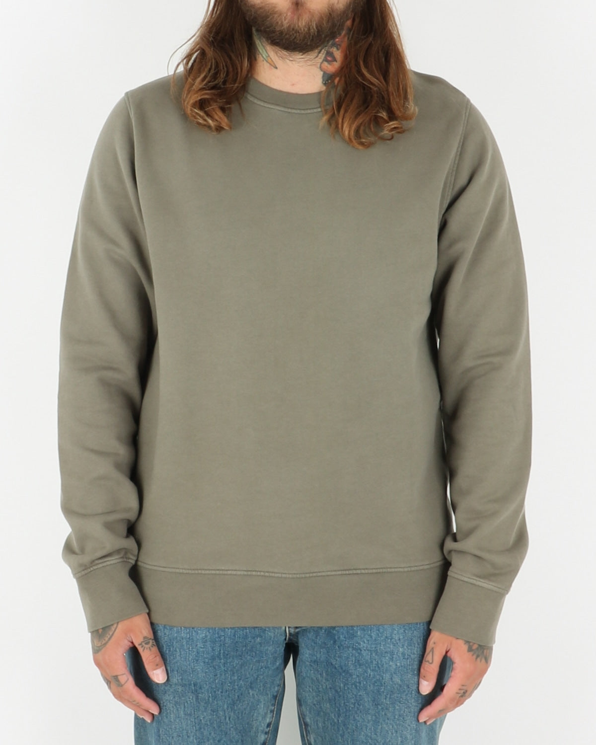 colorful standard_classic organic crew neck_dusty olive_1_2