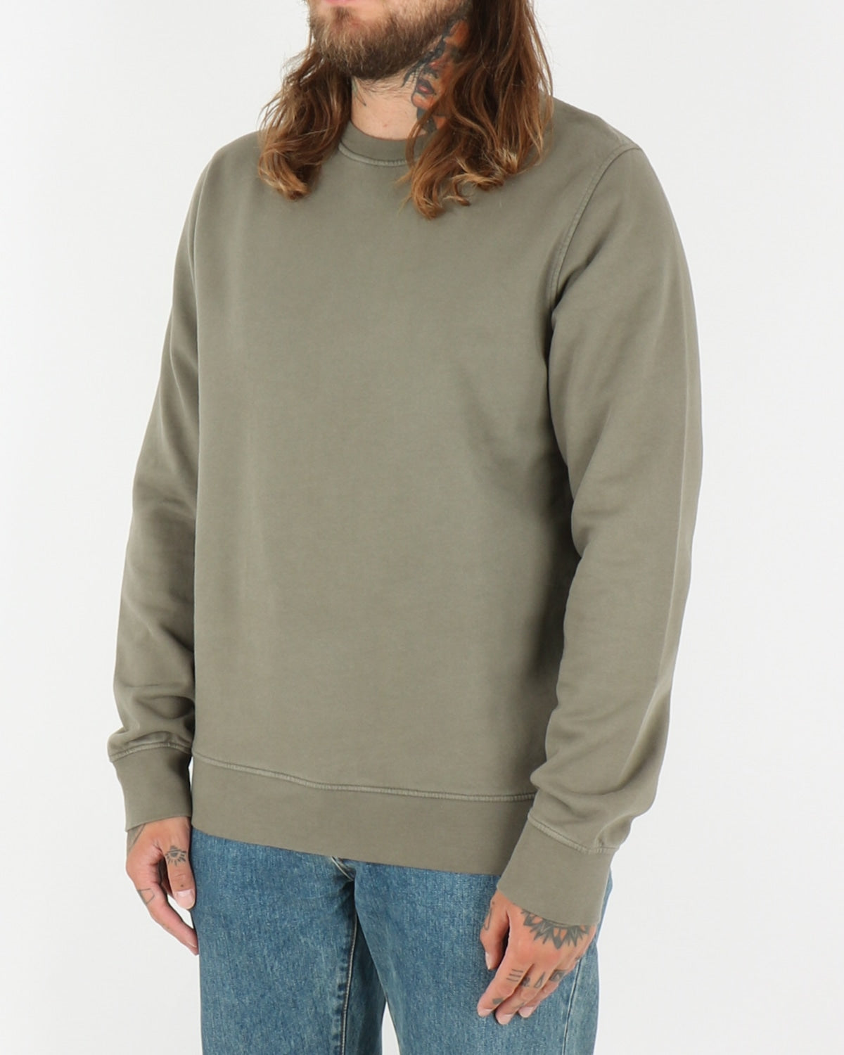 colorful standard_classic organic crew neck_dusty olive_2_2