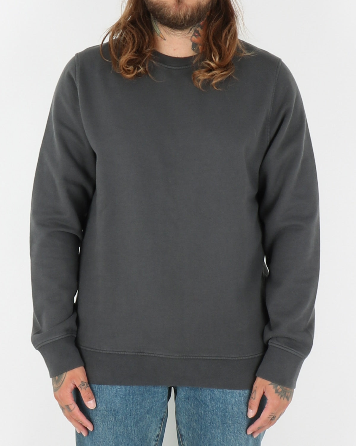colorful standard_classic organic crew neck_lava grey_1_2