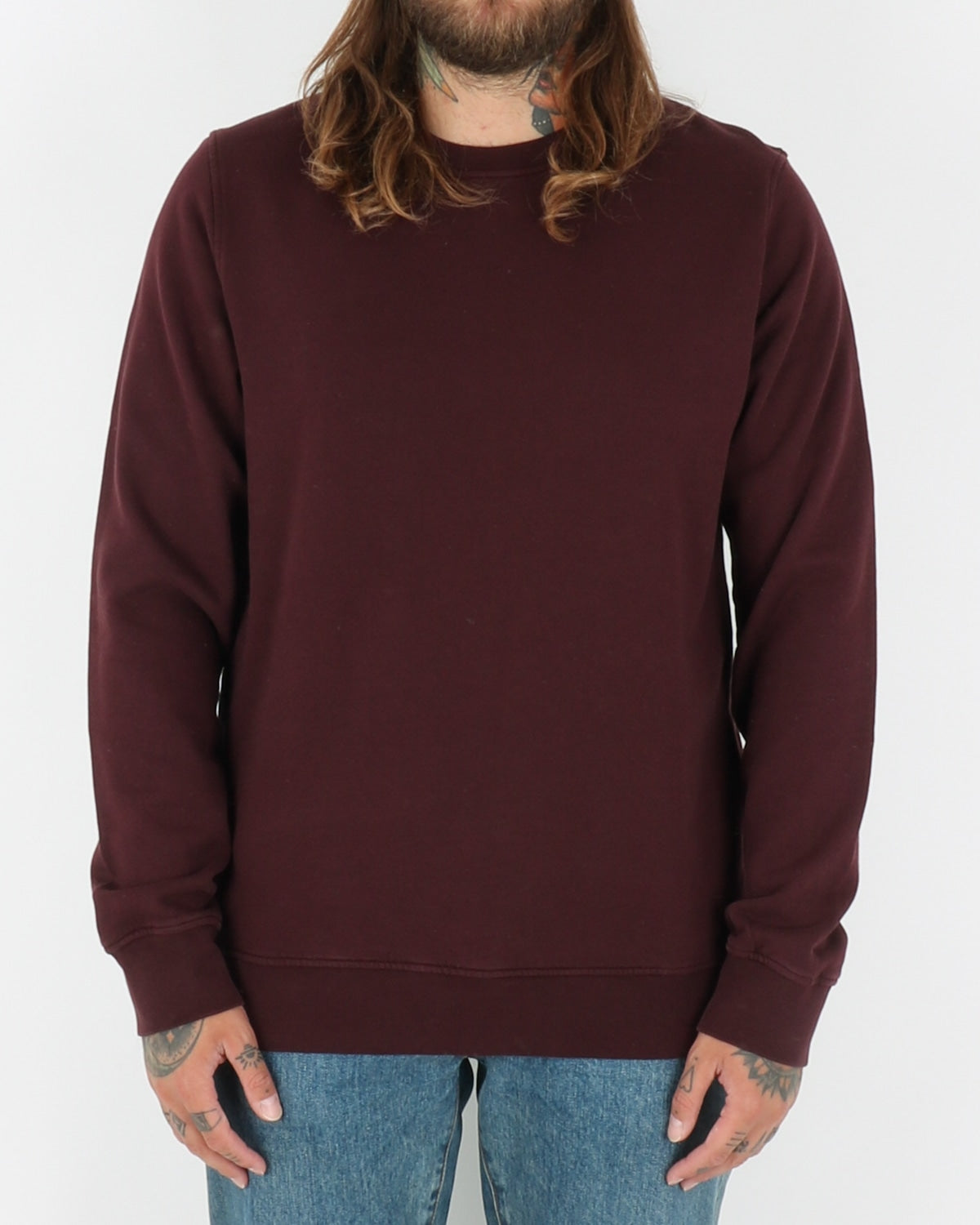 colorful standard_classic organic crew neck_oxblood red_1_2