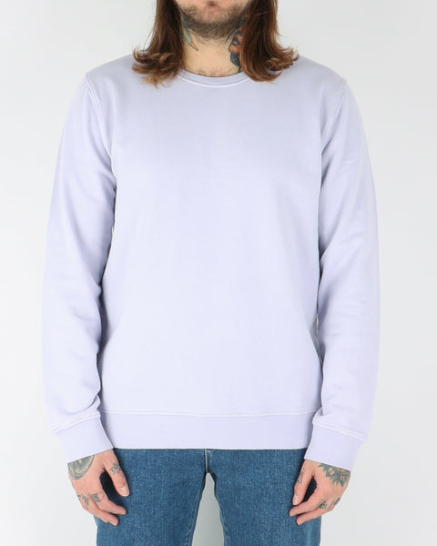 colorful standard_classic organic crew_soft lavender_view_1_2