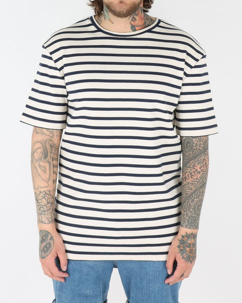 et al design_fino t-shirt_white navy stripe_view_1_2