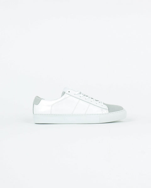 garment project_ace sneaker_white leather suede_view_1_4