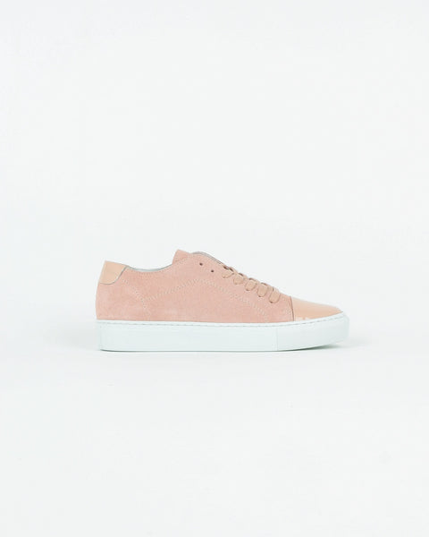 garment project_classic lace sneaker_baby pink suede_view_1_4