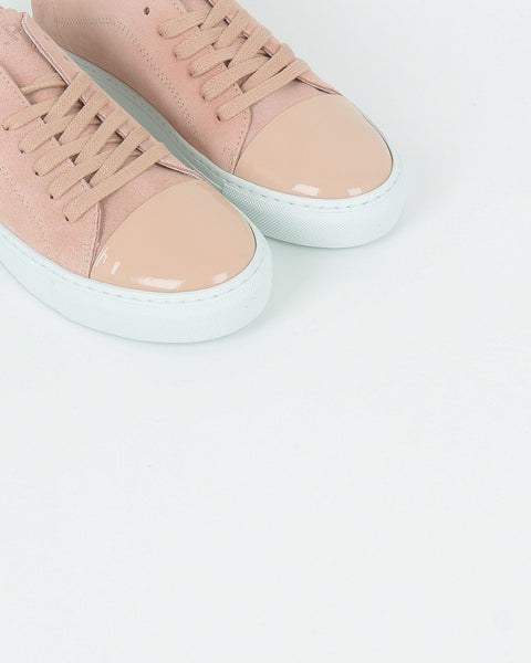 garment project_classic lace sneaker_baby pink suede_view_4_4