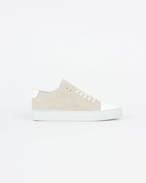 garment project_classic lace sneaker_offwhite suede_view_1_4