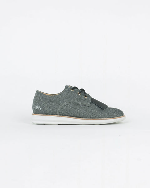 gram shoes_380g wa derby snaeker_grey ginghaim_view_1_4
