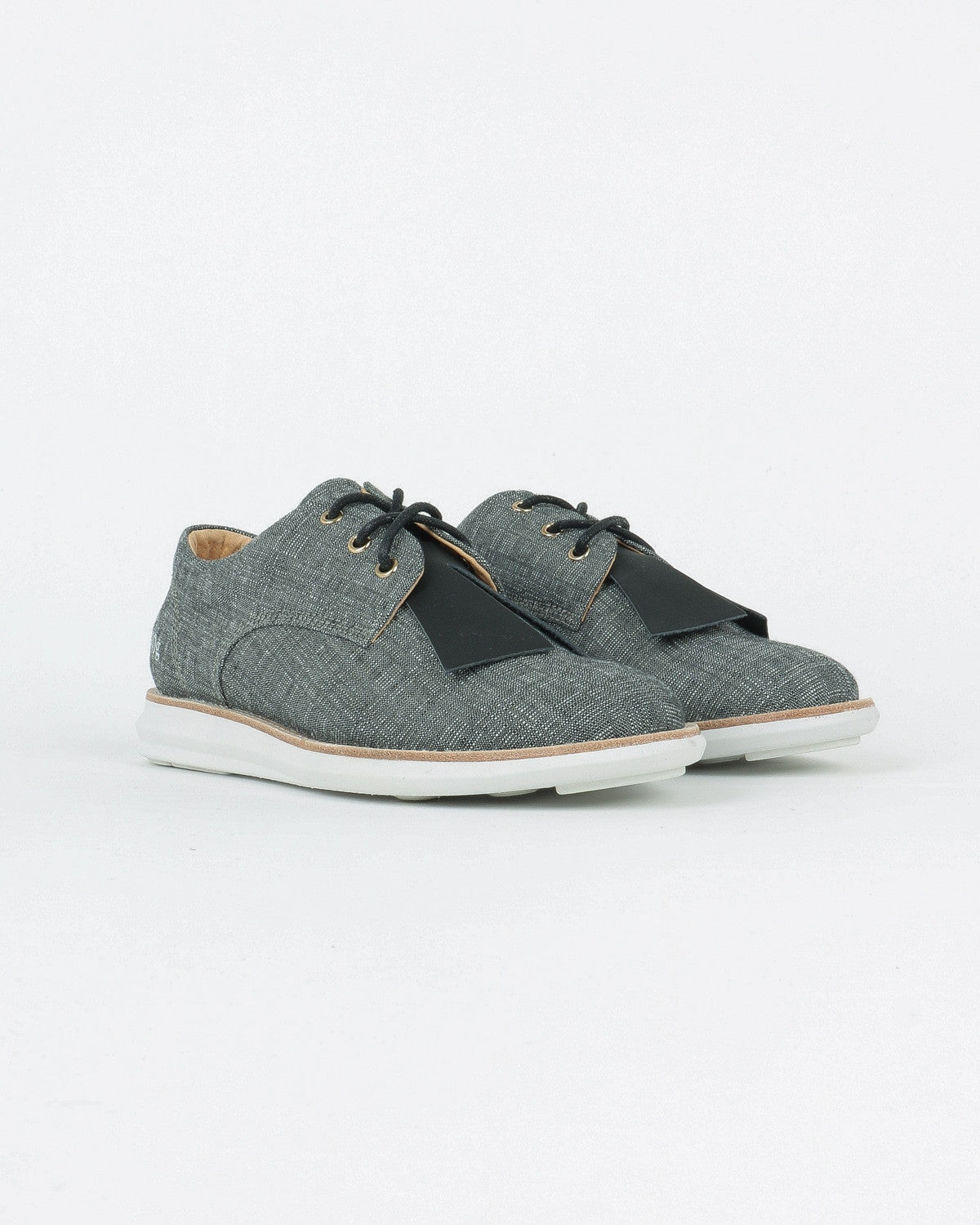 gram shoes_380g wa derby snaeker_grey ginghaim_view_2_4