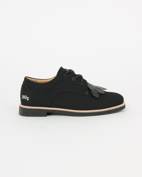 gram shoes_380g wa derby sneaker_black linen_view_1_4