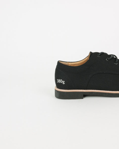 gram shoes_380g wa derby sneaker_black linen_view_4_4