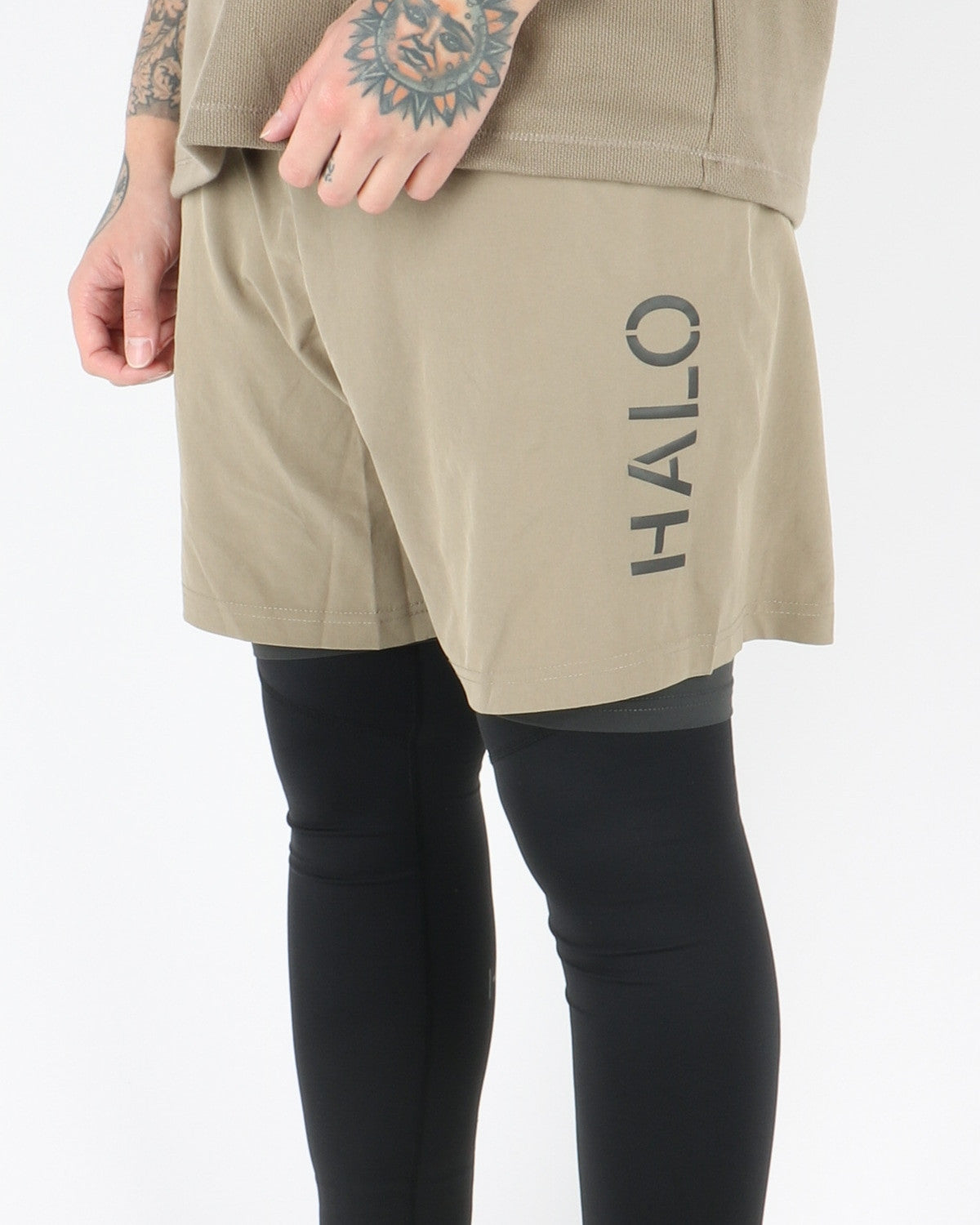 halo newline_endurance_shorts_2in1_light olive_view_2_3