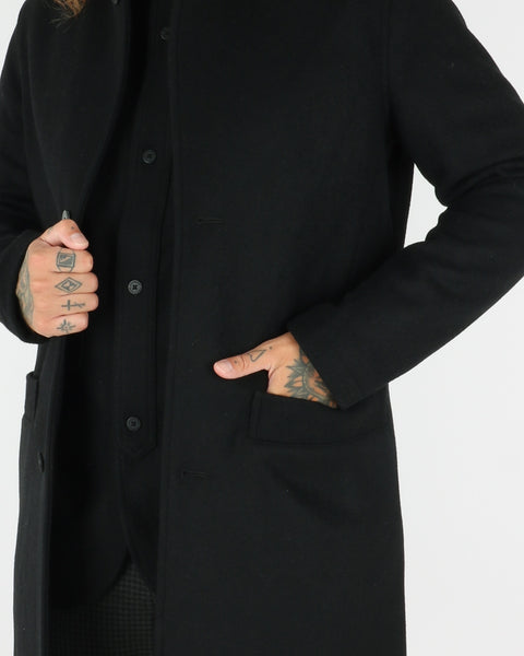 han kjobenhavn_bankers trench coat_black wool_view_3_3