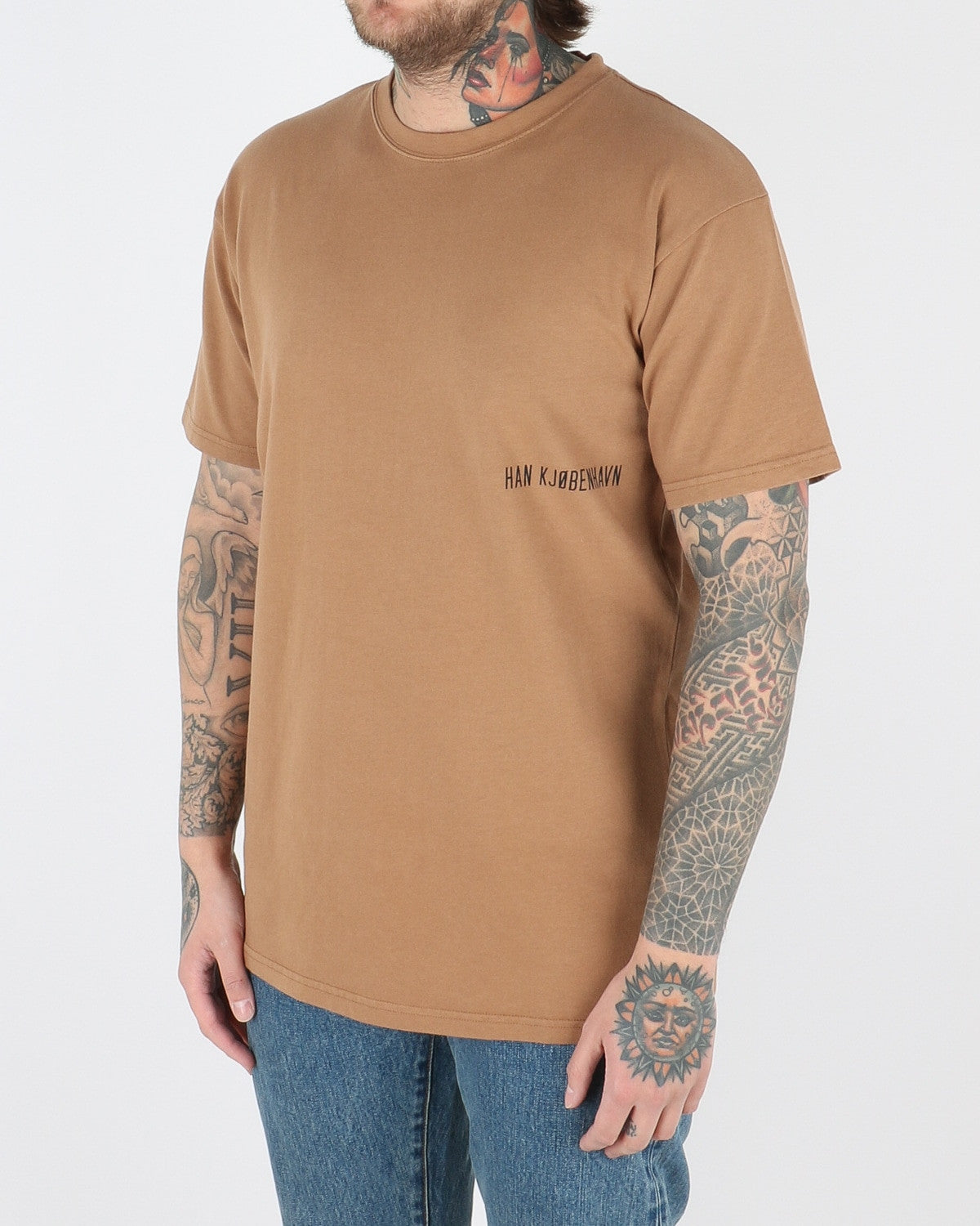 han kjobenhavn_casual t-shirt_brown small chest logo_view_2_2