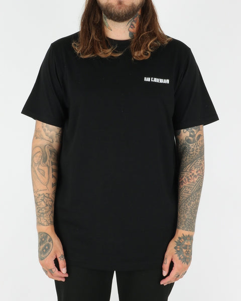 Han Kjobenhavn Casual Tee, black chest logo