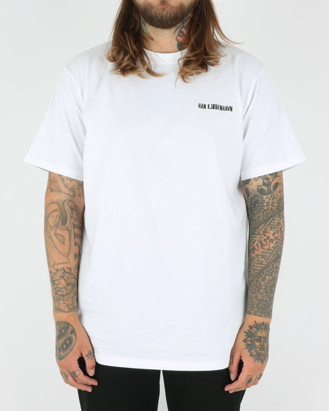 Han Kjobenhavn Casual Tee, white chest logo