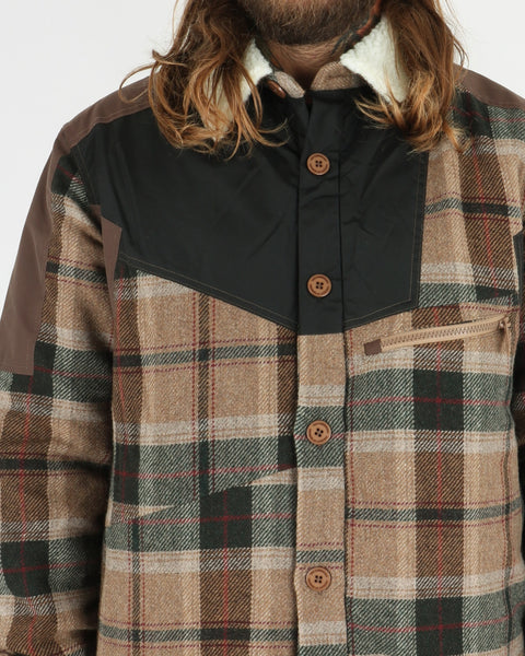 han kjobenhavn_coach jacket_brown check_view_3_3