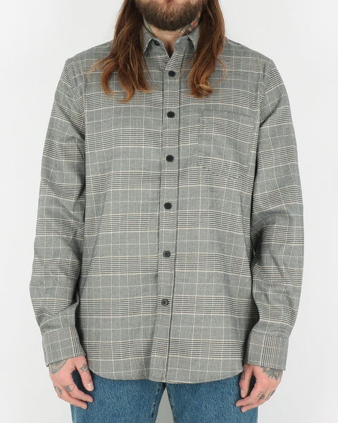 han kjobenhavn_one pocket shirt_grey tweed_1_4