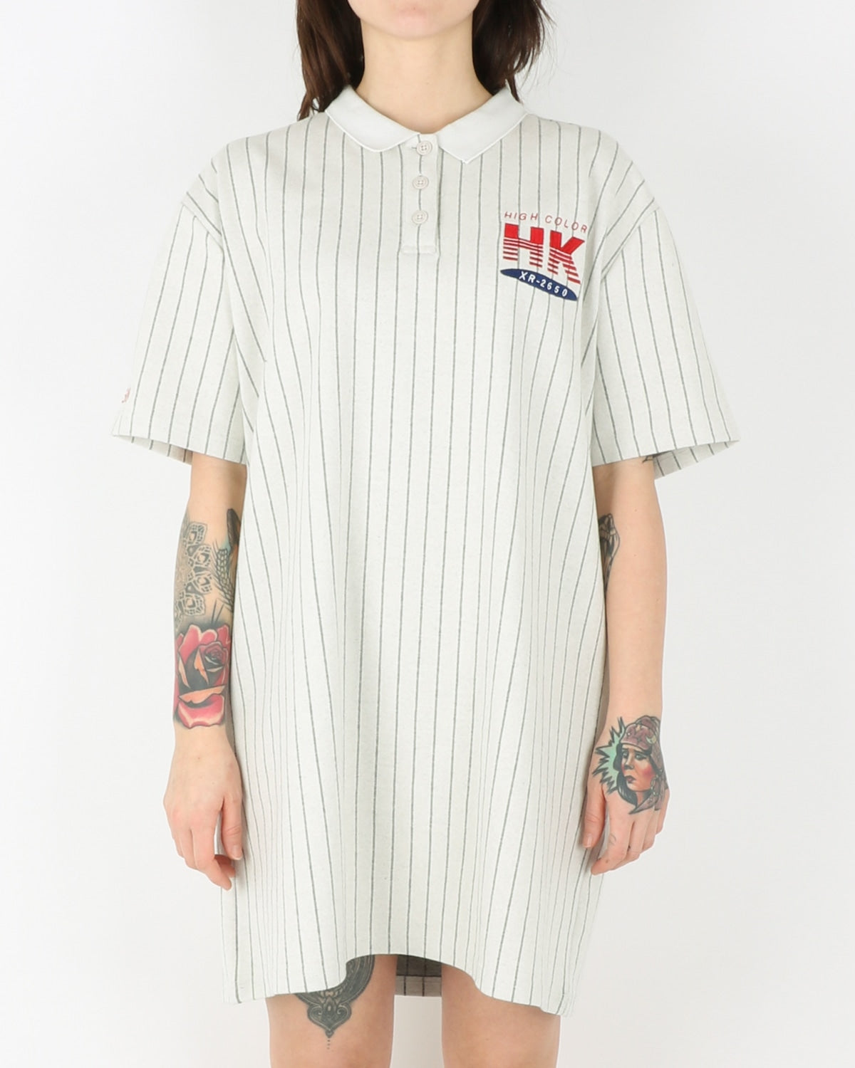 han kjobenhavn_polo dress_pinstripe white_1_3
