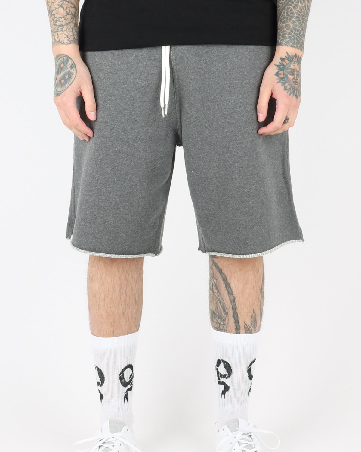 han kjobenhavn_sweat chino pants_grey_view_1_2