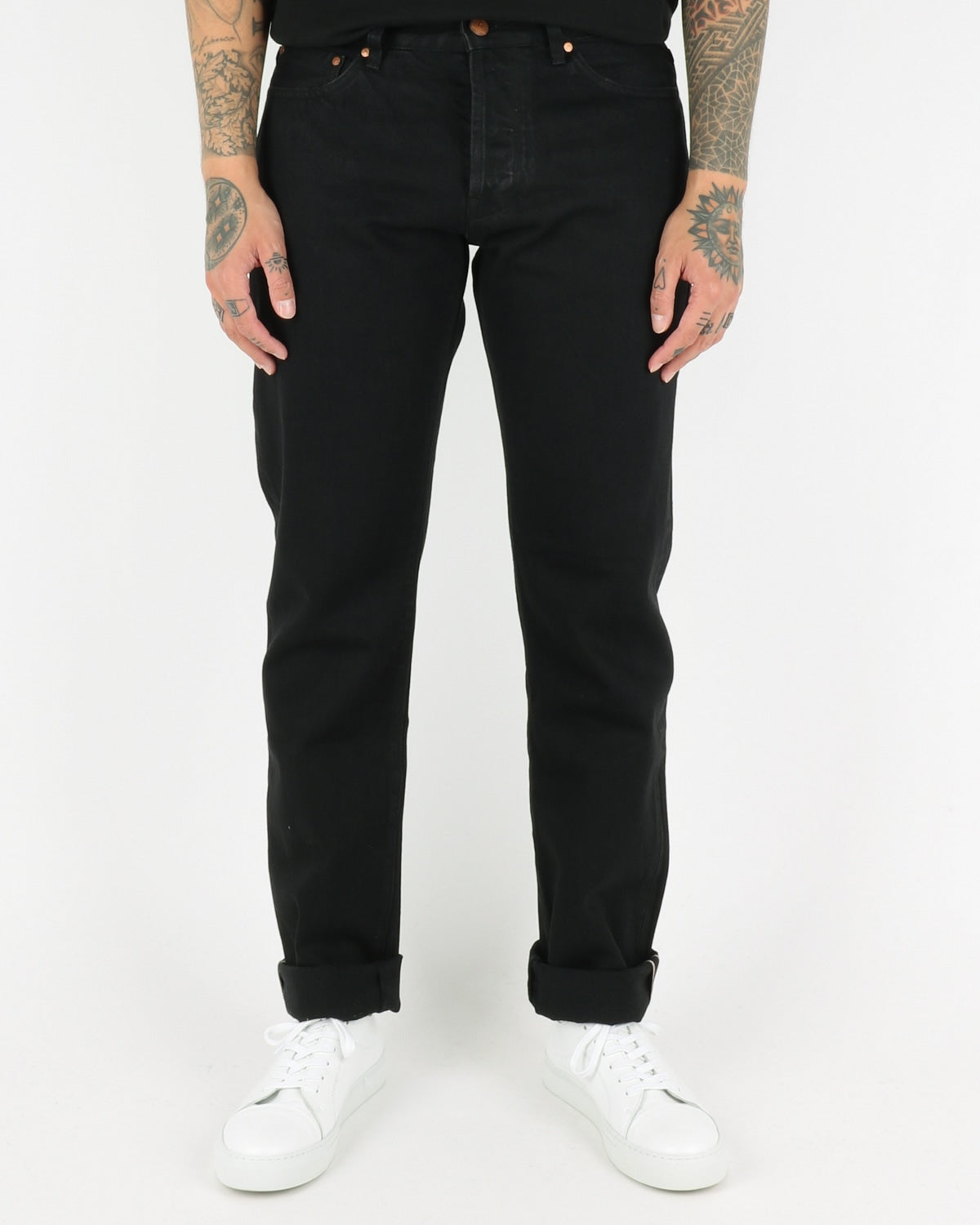 han kjobenhavn_tapered jeans_black denim_view_1_4