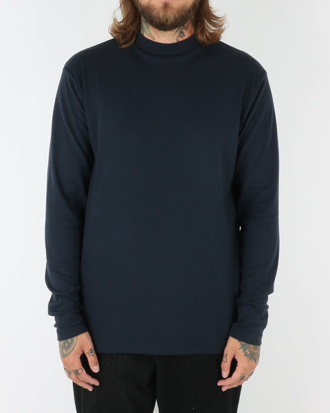 journal clothing_straight turtle neck_navy_view_1_2