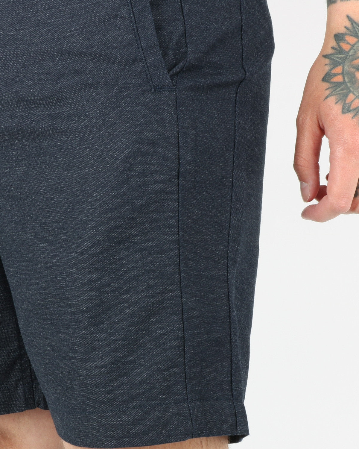 journal clothing_taper theo oxford shorts_navy_view_2_3