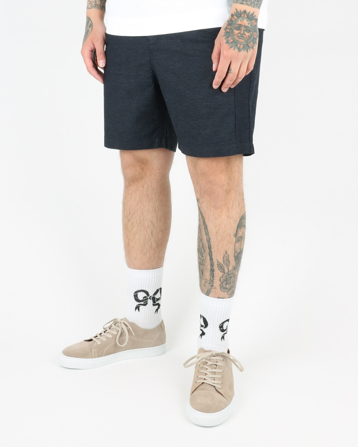 journal clothing_taper theo oxford shorts_navy_view_3_3