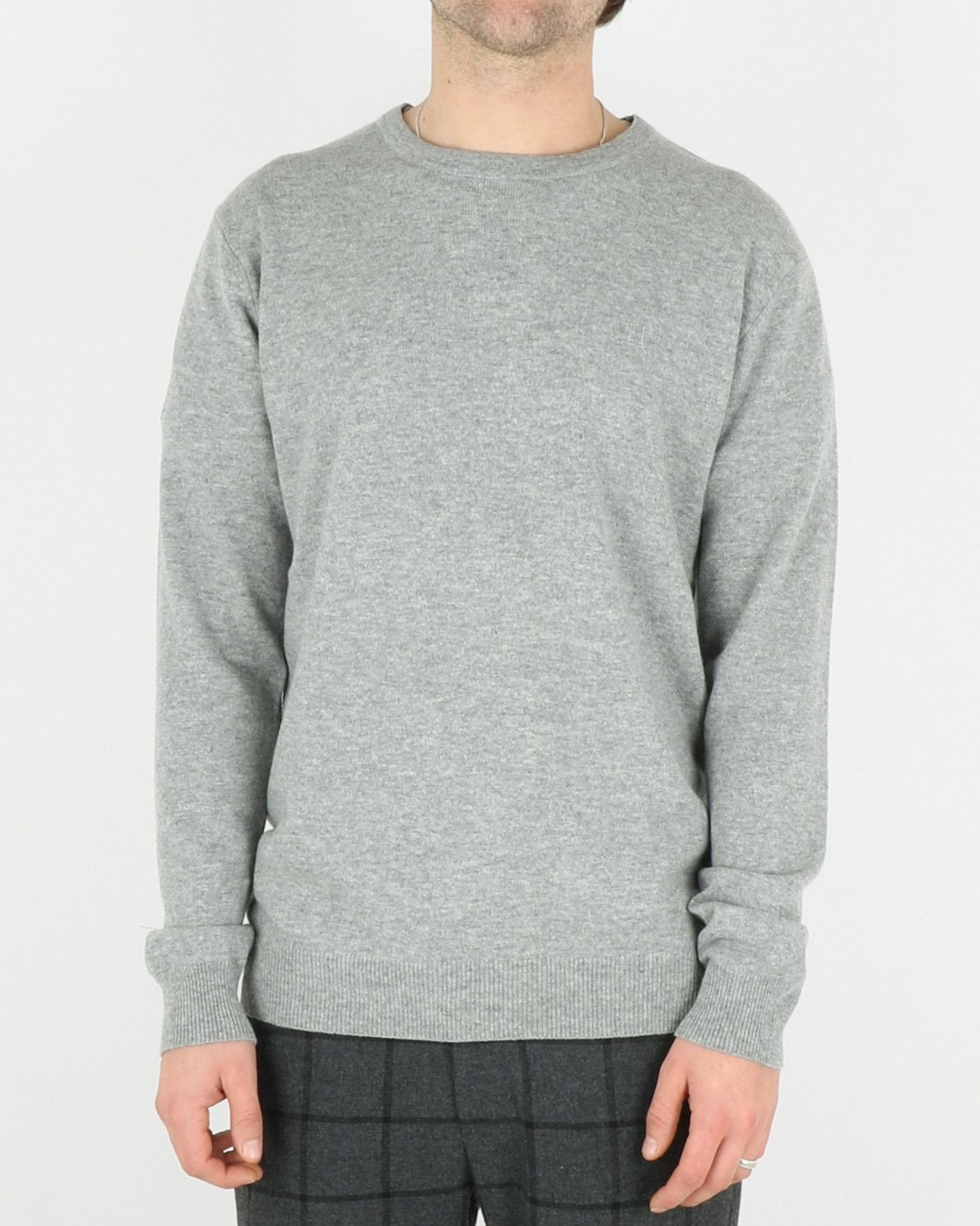 les deux_cashmerino knitwear_light grey melange_1_3