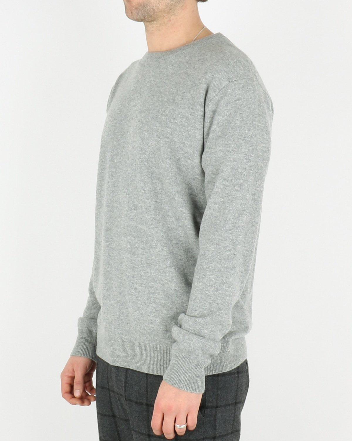 les deux_cashmerino knitwear_light grey melange_2_3