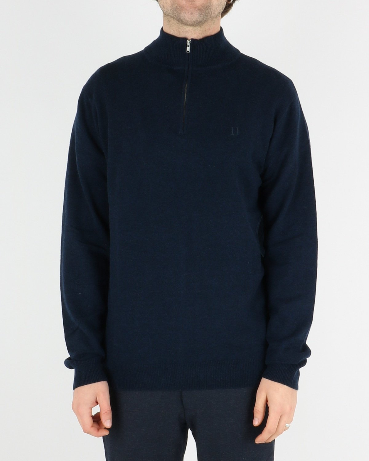les deux_cashmerino zipper knit_dark navy_1_4