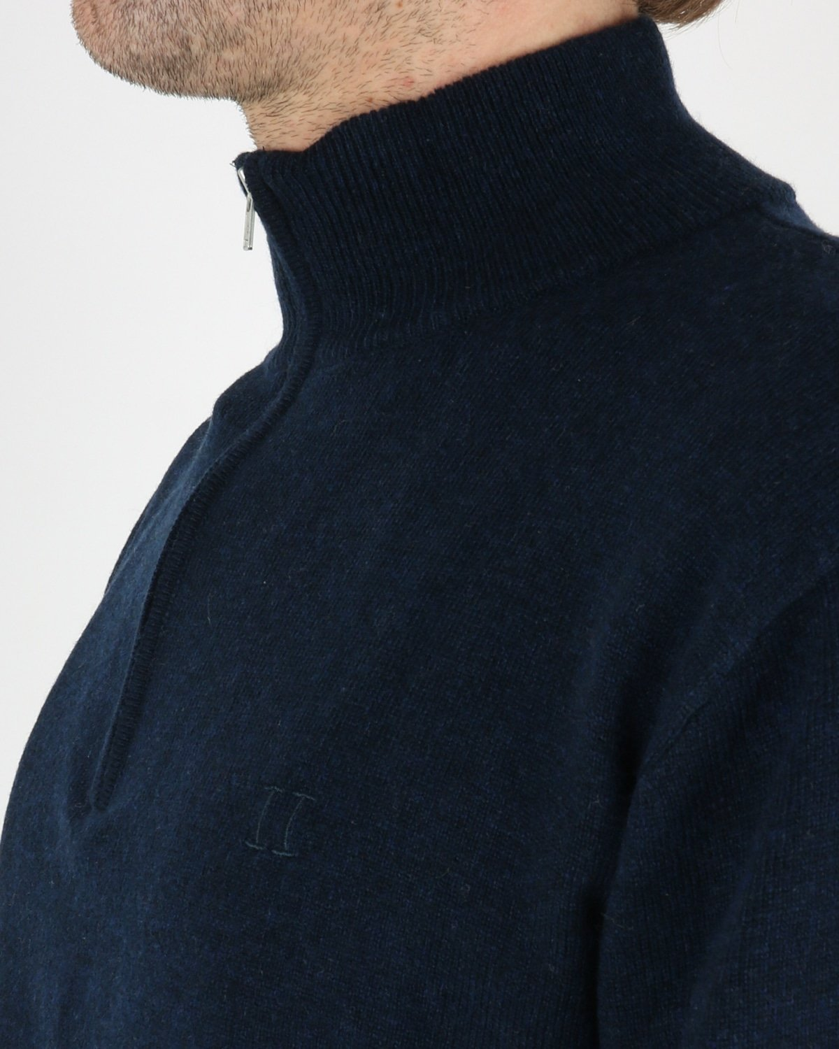 les deux_cashmerino zipper knit_dark navy_3_4