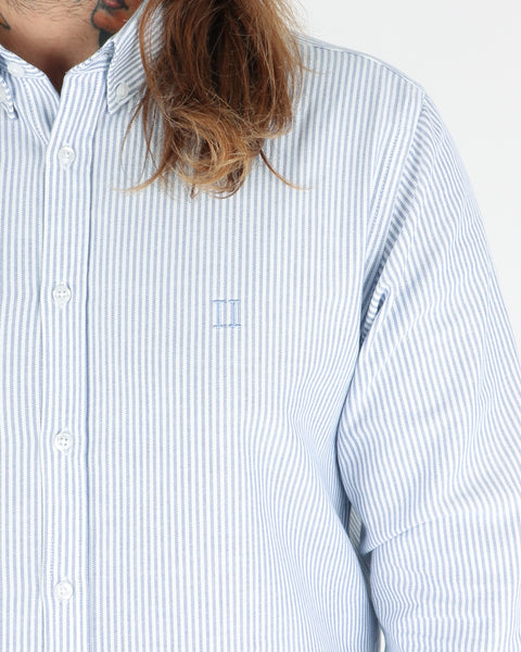 les deux_christoph oxford shirt_stripe dark navy_view_3_3