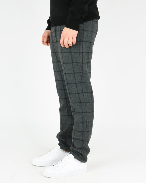 les deux_como wool check pants_charcoal black_4_4