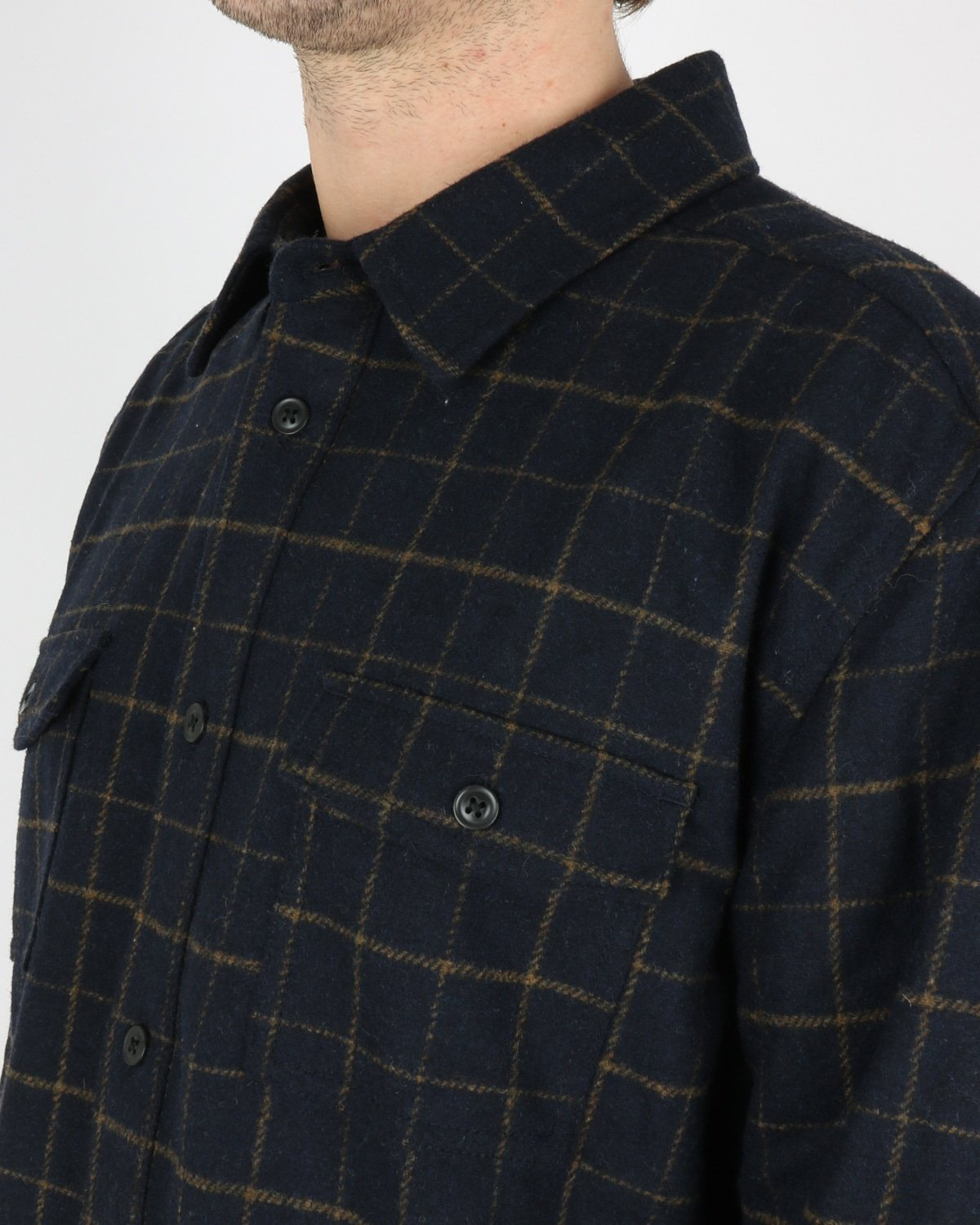 les deux_dines shirt jacket_dark navy_3_4