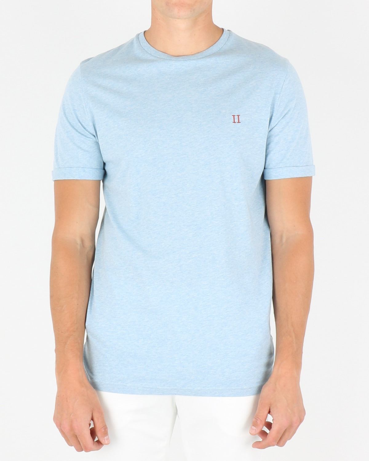 les deux_norregaard t-shirt_light blue melange orange_1_3