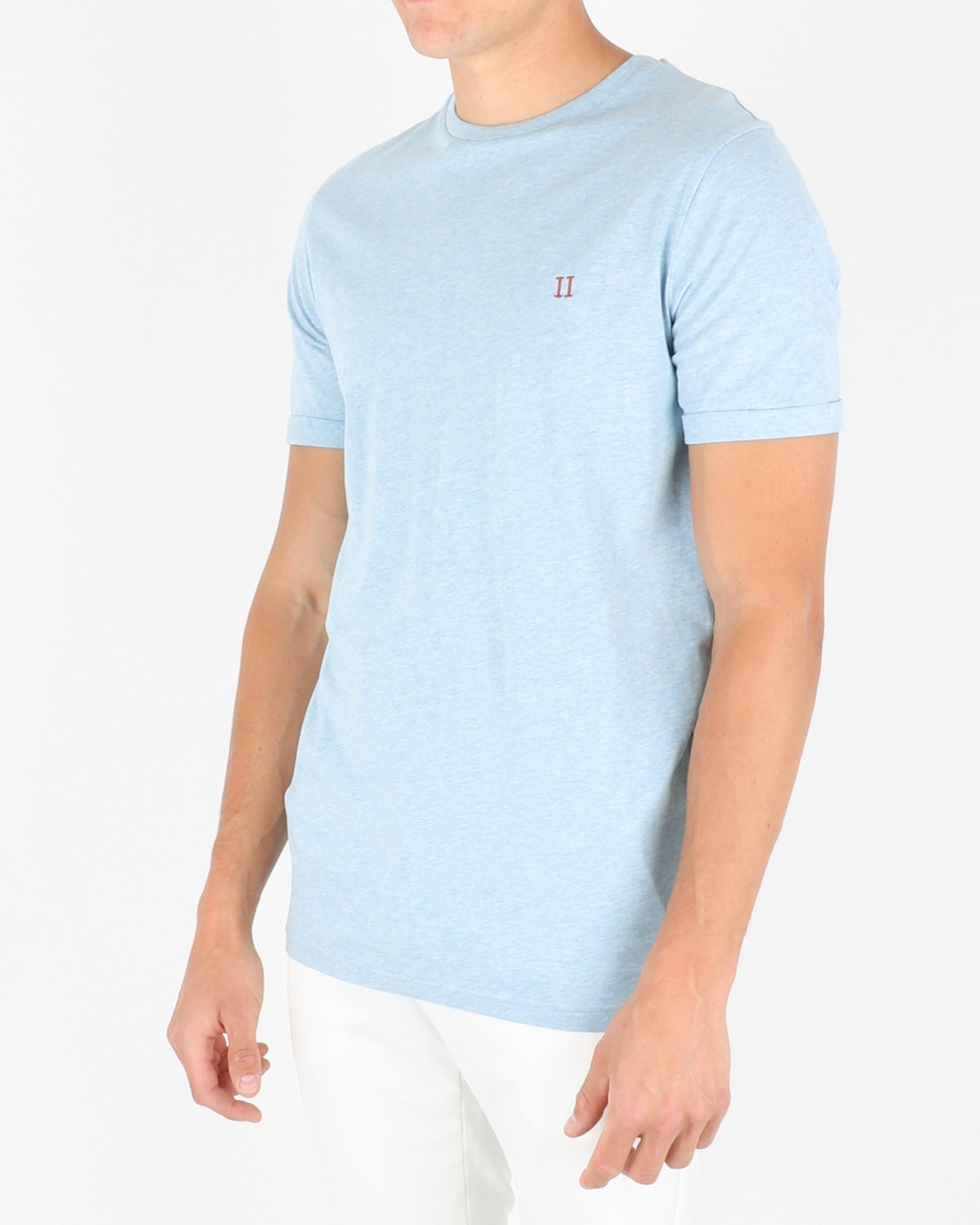 les deux_norregaard t-shirt_light blue melange orange_2_3