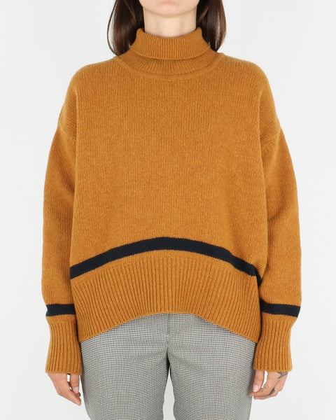 libertine-libertine_husy knit_camel with navy_view_1_3