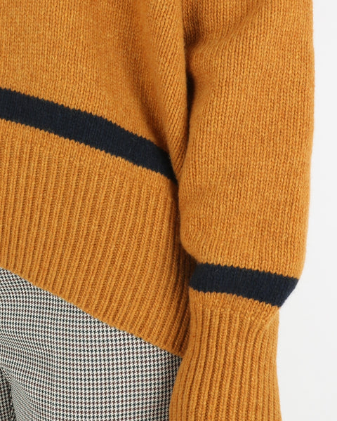 libertine-libertine_husy knit_camel with navy_view_3_3