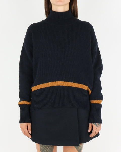 libertine-libertine_husy knit_dark navy with camel_view_3_3