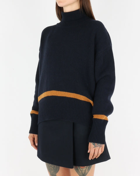 libertine-libertine_husy knit_dark navy with camel_view_1_3