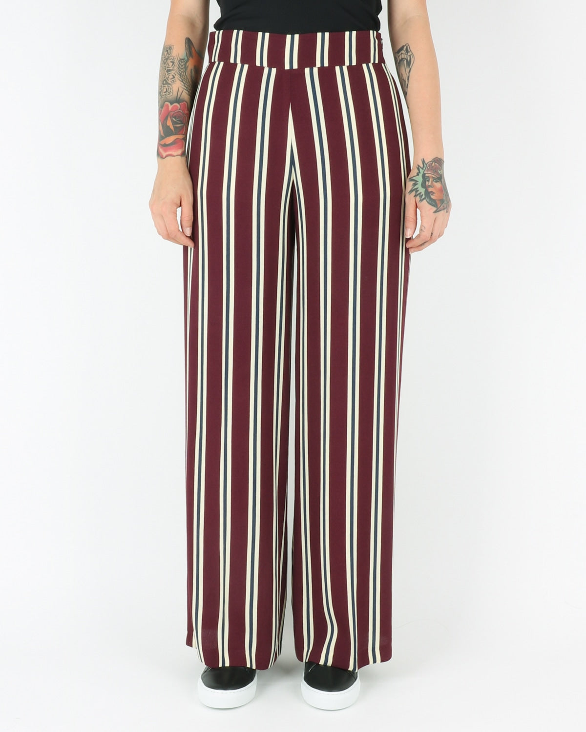libertine libertine_blonde trousers_wine_view_1_2