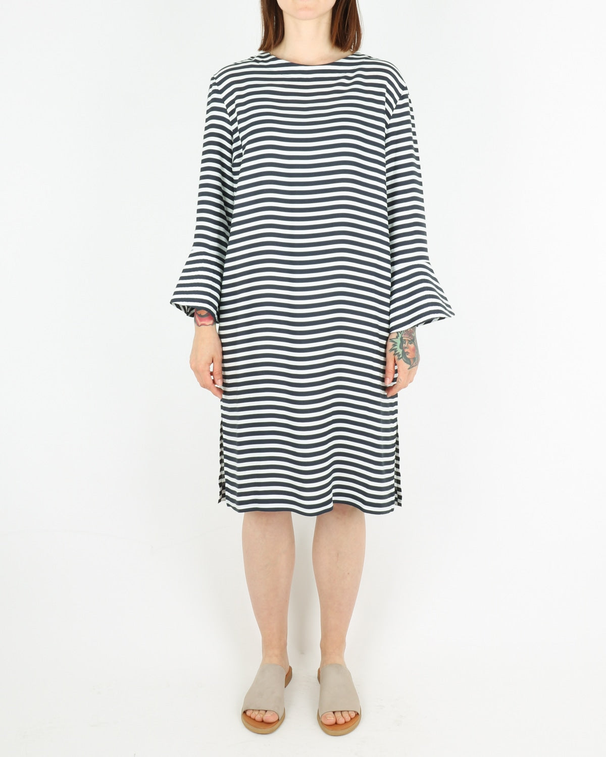 libertine libertine_glaze dress_navy white_view_1_3