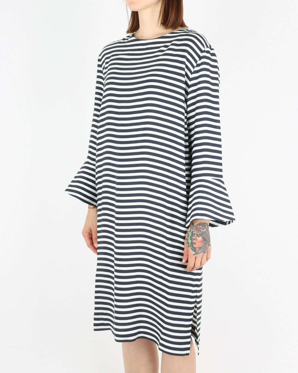 libertine libertine_glaze dress_navy white_view_2_3