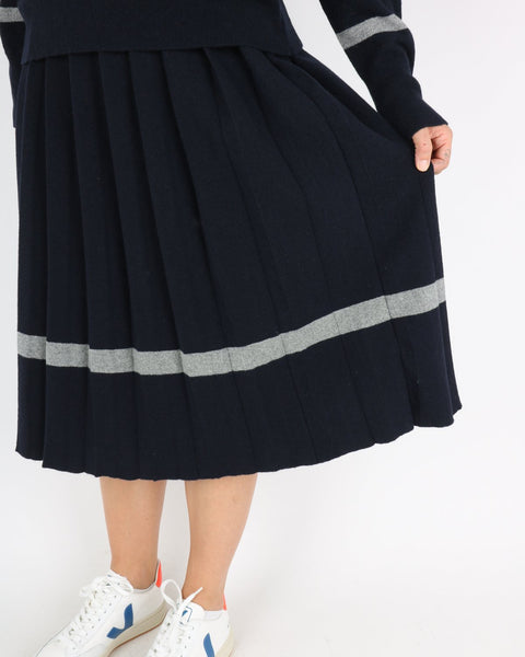 libertine libertine_guide skirt_dark navy grey melange_3_3