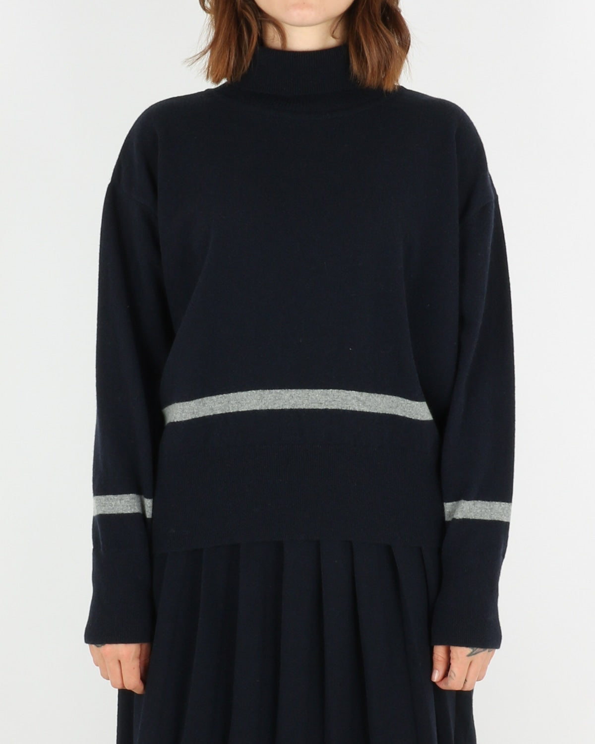 libertine libertine_husky knit_dark navy grey melange_1_4