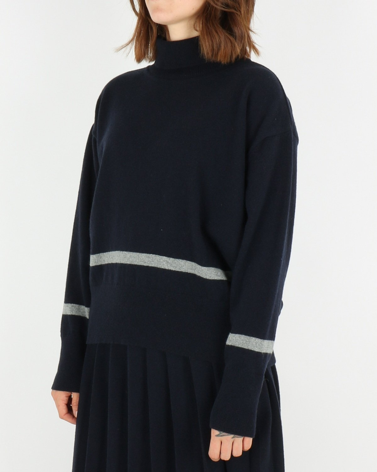 libertine libertine_husky knit_dark navy grey melange_2_4
