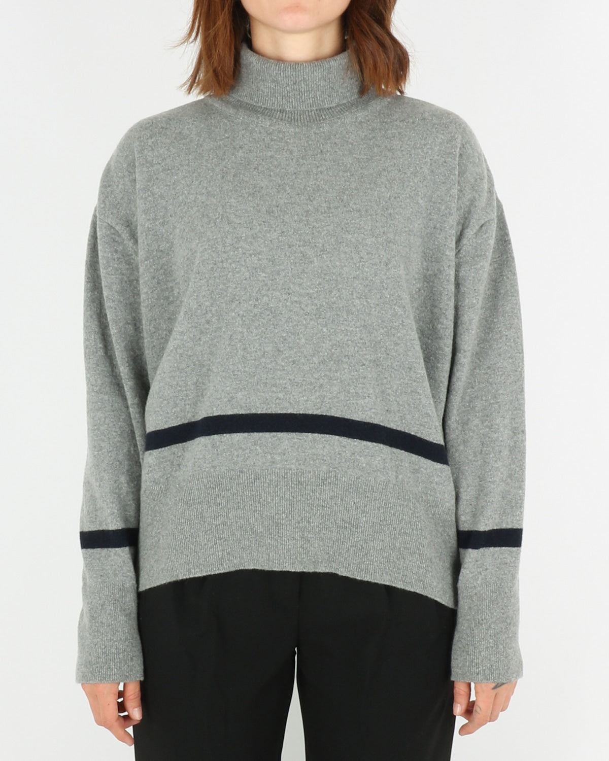 libertine libertine_husky knit_grey melange dark navy_1_4